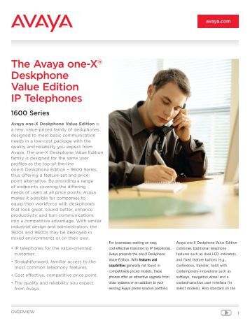 avaya 9611g quick user guide
