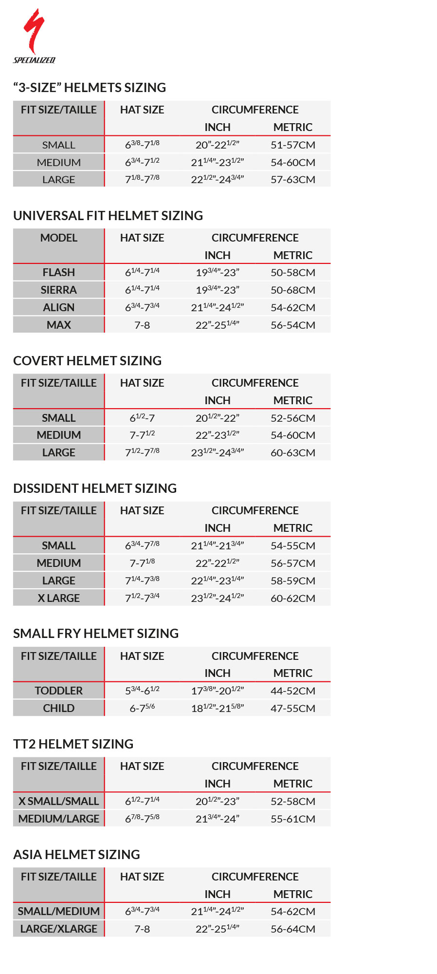 specialized transition pro size guide