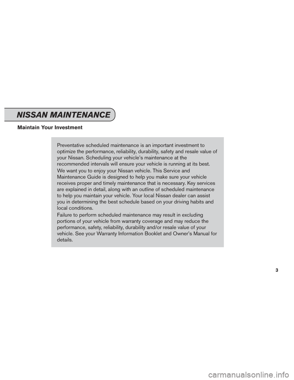 nissan service and maintenance guide 2014
