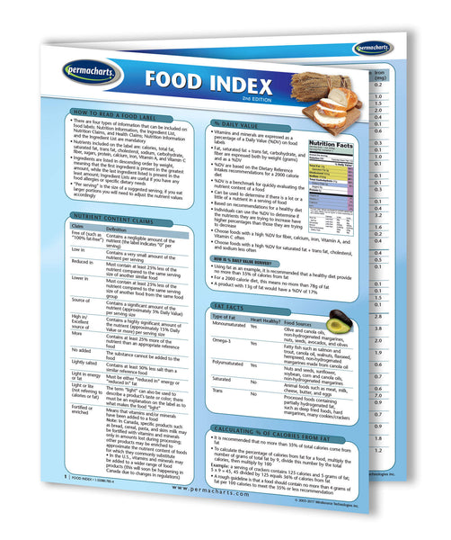 reference values for nutrition labeling of the food labeling guide