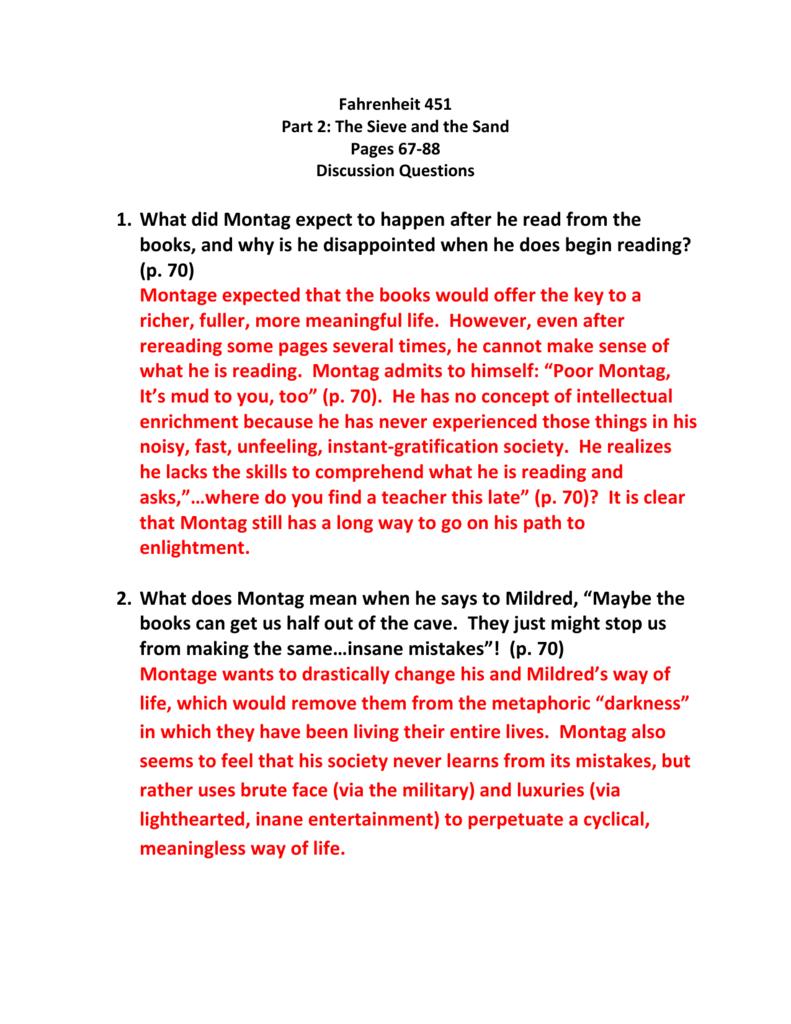 fahrenheit 451 part 2 study guide
