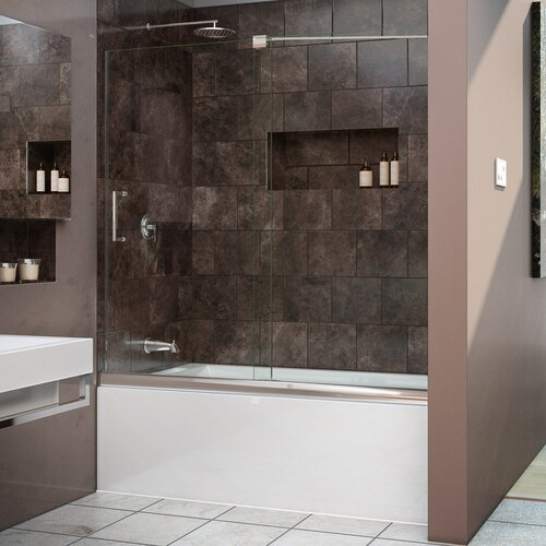 how to install sliding shower door bottom guide