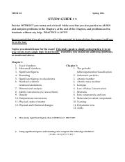 general chemistry study guide pdf