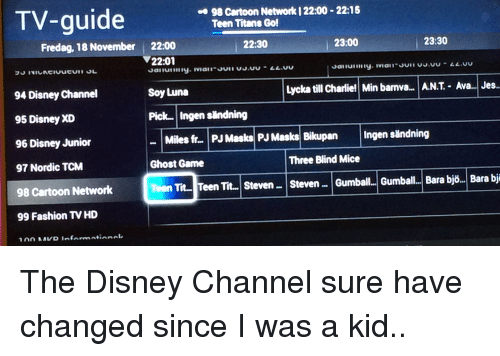 disney channel guide for today
