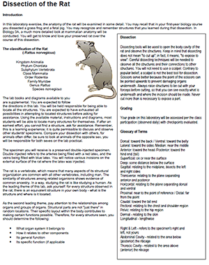 student guide to the frog dissection