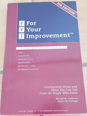 fyi for your improvement a guide for development and coaching