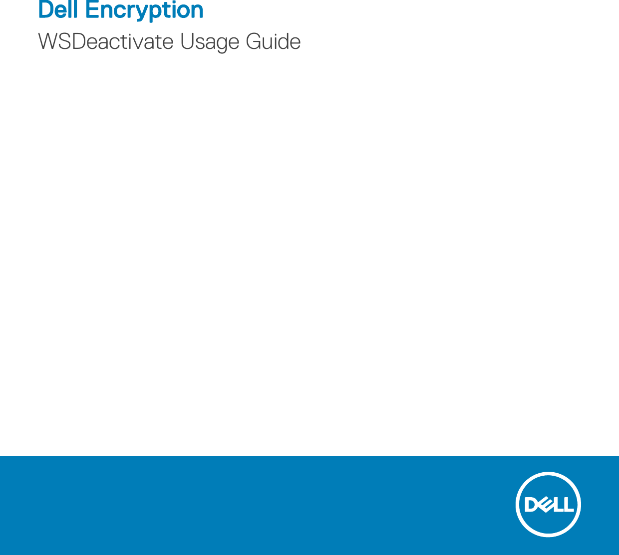 dell data protection encryption user guide
