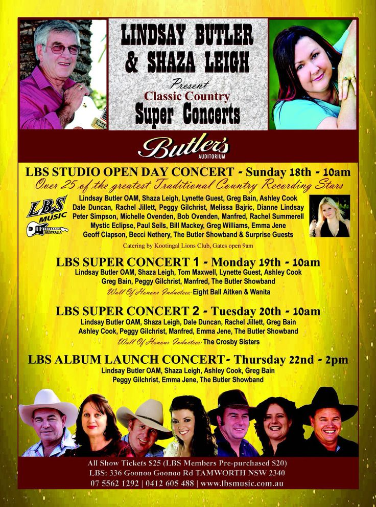 tamworth country music festival gig guide