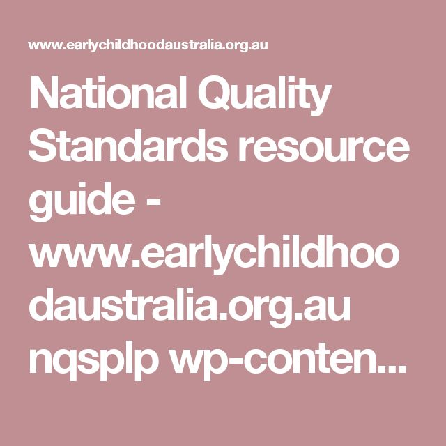 guide to the national quality standard 2011