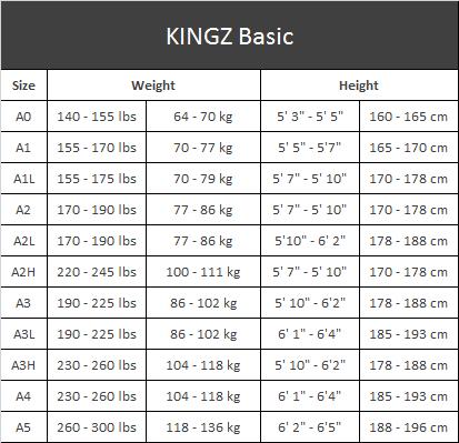 jiu jitsu belt size guide