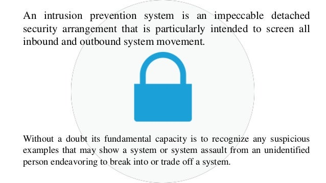 guide to intrusion detection and prevention systems