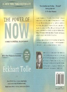 the power of now a guide to spiritual enlightenment pdf
