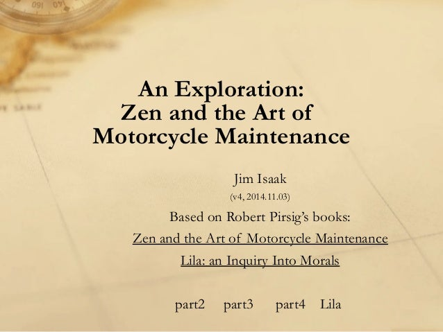 zen and the art of motorcycle maintenance study guide