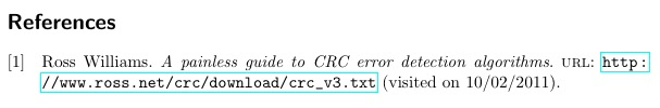 a painless guide to crc error detection algorithms