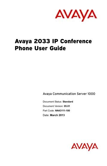 avaya 9611g quick user guide