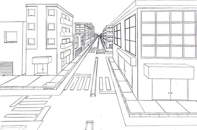 student art guide one point perspective