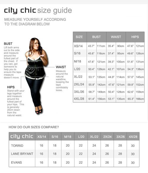 born to be chic size guide