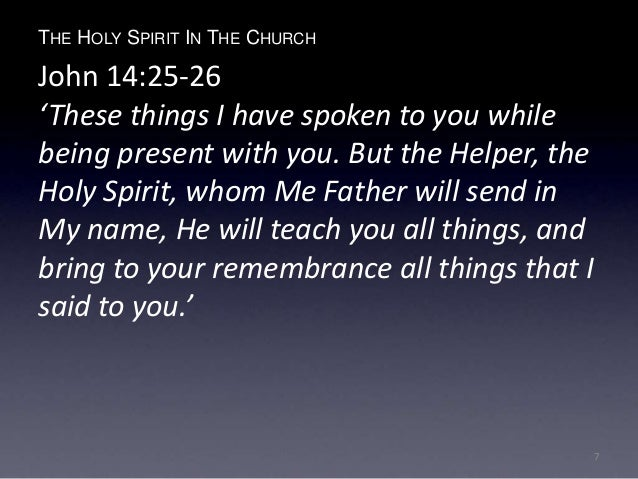holy spirit guide you into all truth