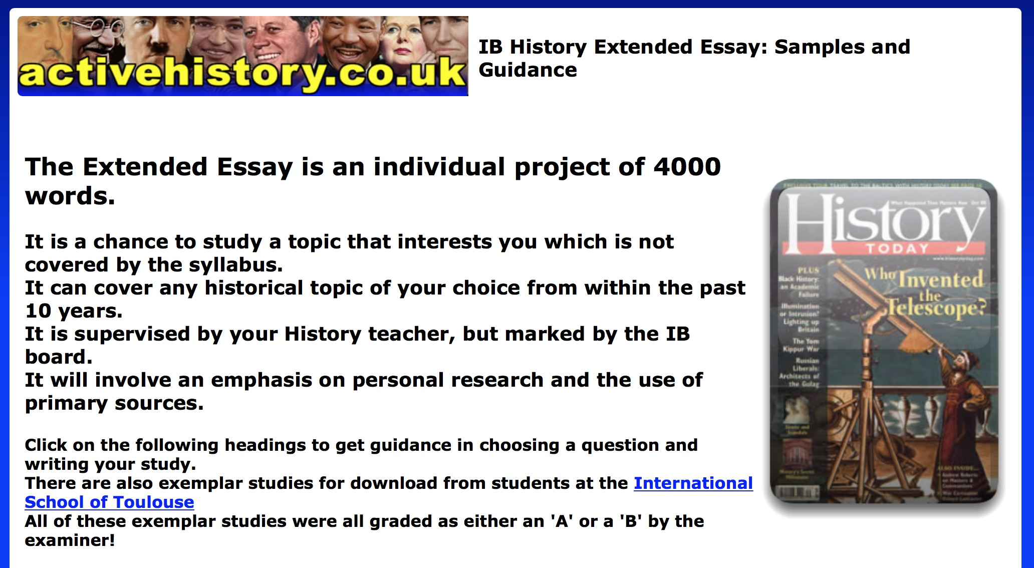 ib extended essay guide 2018