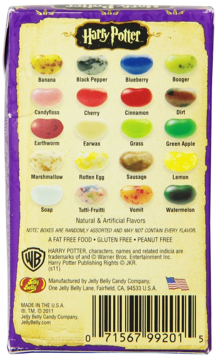 bertie botts jelly bean flavors guide