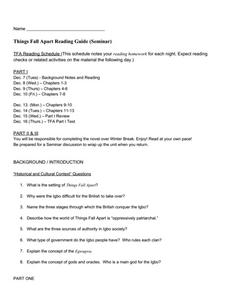 things fall apart study guide