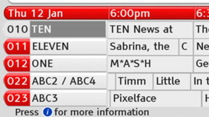 freeview tv guide south australia
