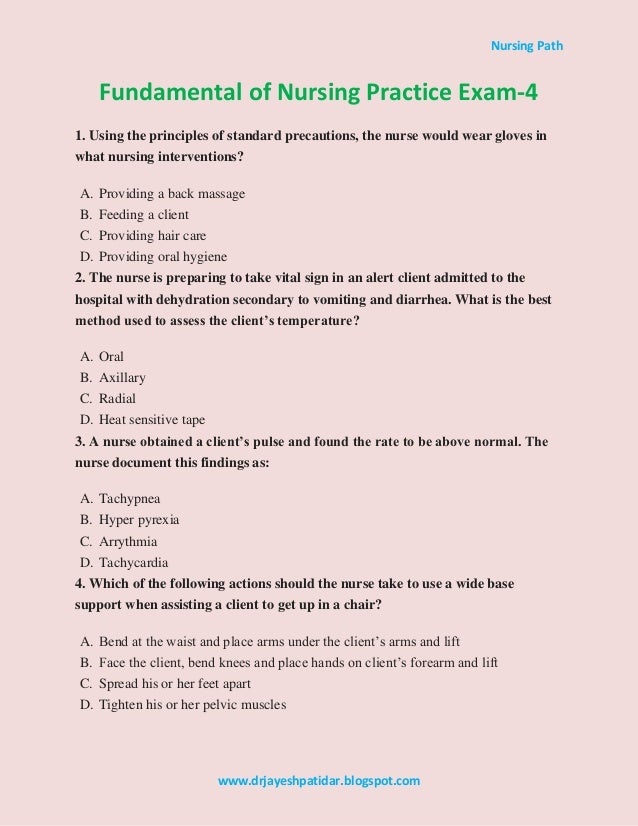 fundamentals of nursing study guide pdf