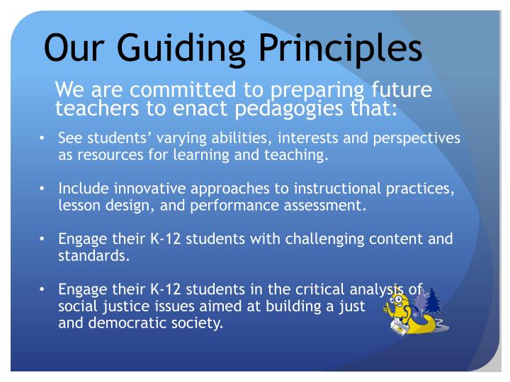 guiding principles of teaching and learning