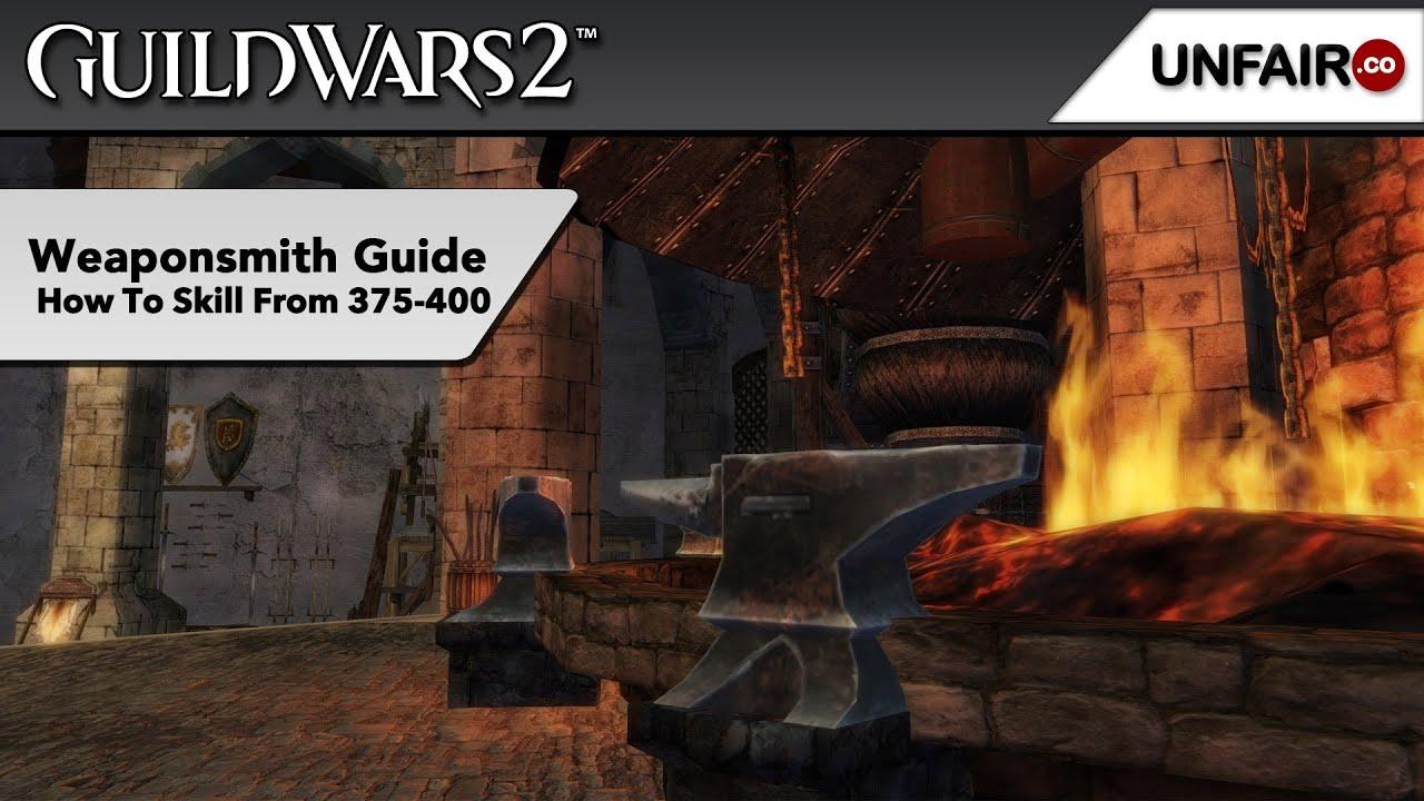 gw2 weaponsmithing guide 400 500