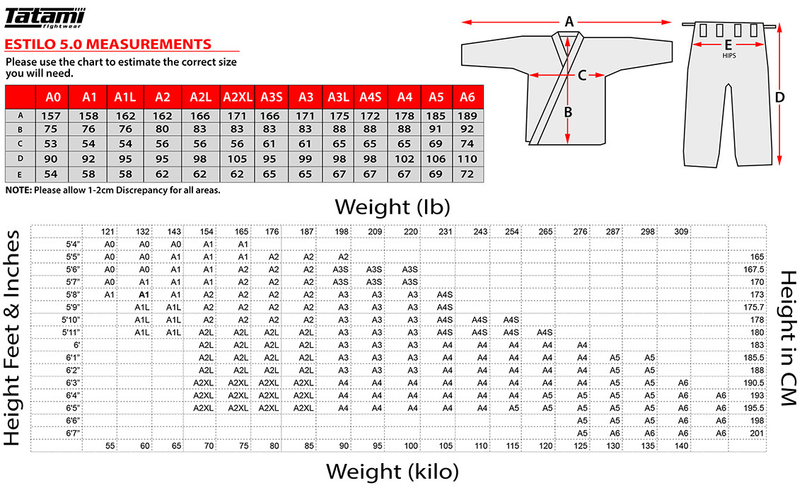 jiu jitsu belt size guide