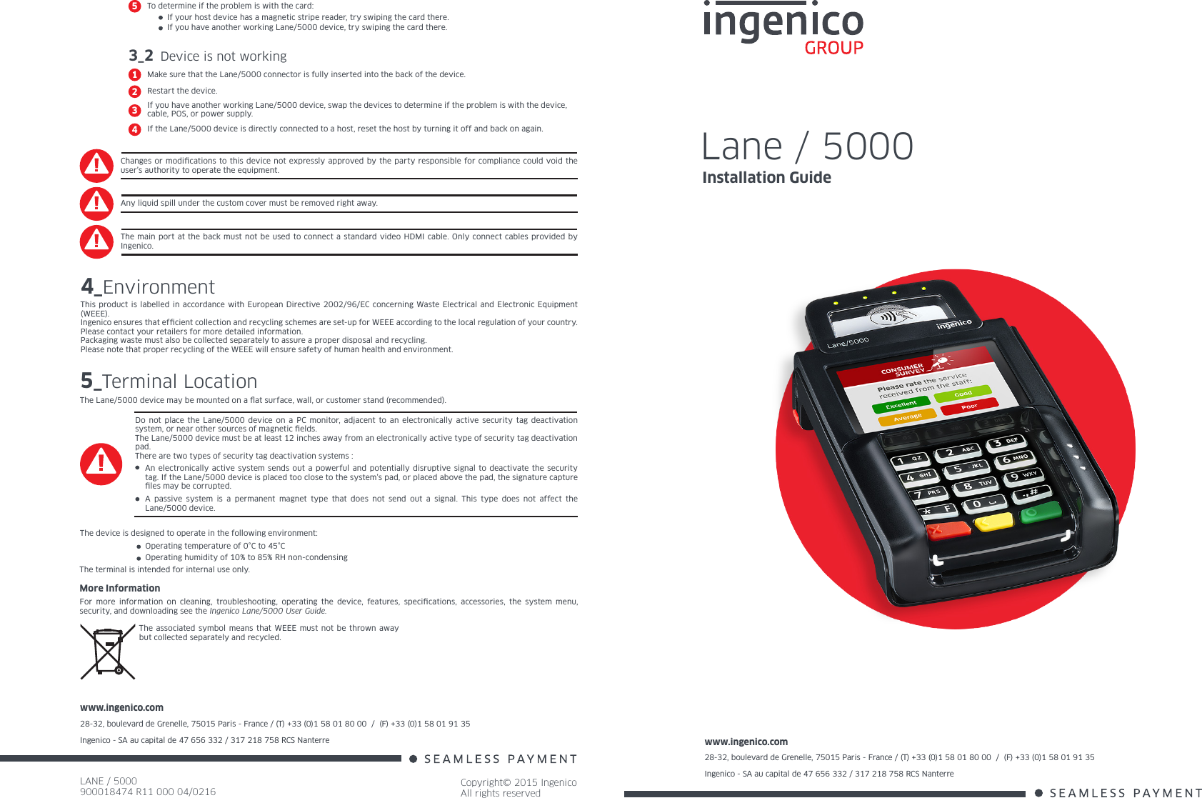 move 5000 ingenico user guide