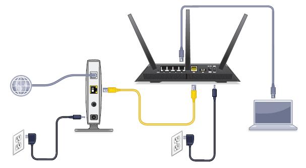 netgear ac1900 wifi modem installation guide