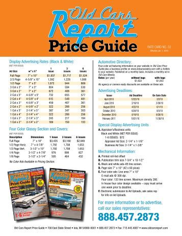 old cars weekly price guide