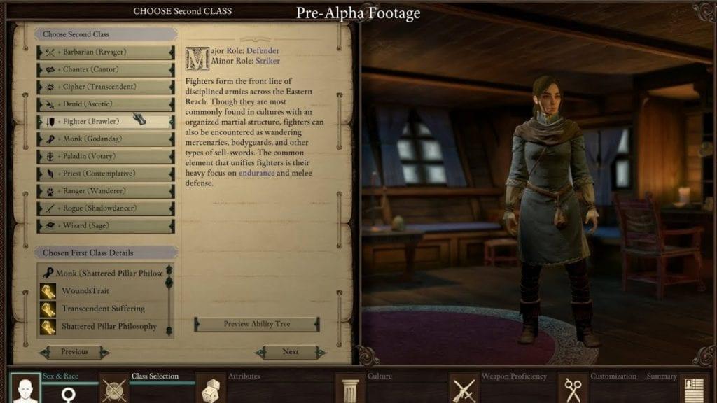 pillars of eternity class guide
