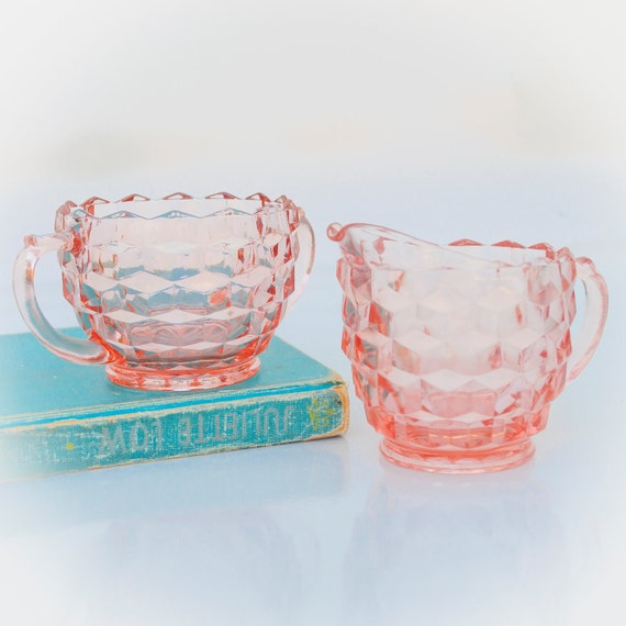 pink depression glass pattern guide