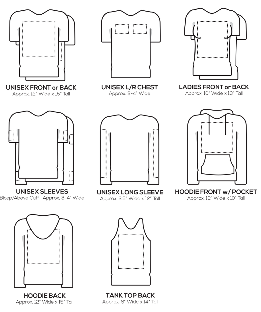 t shirt logo placement guide
