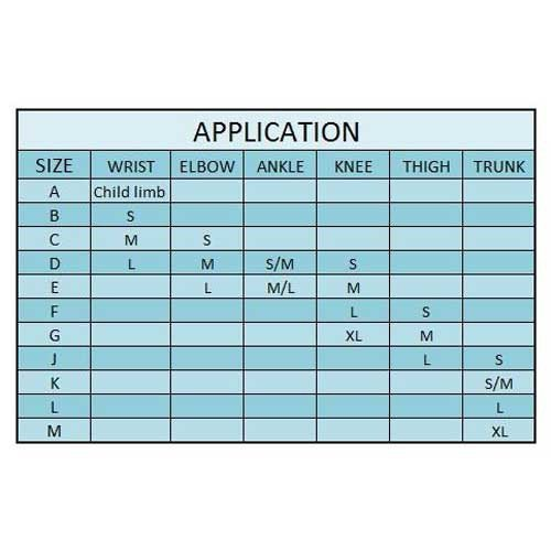 tubigrip measuring guide sizing chart