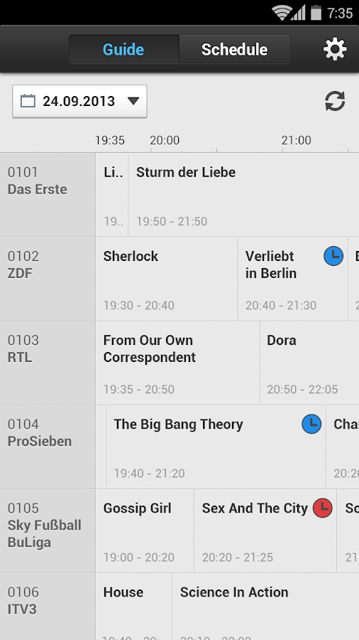 tv guide app android download